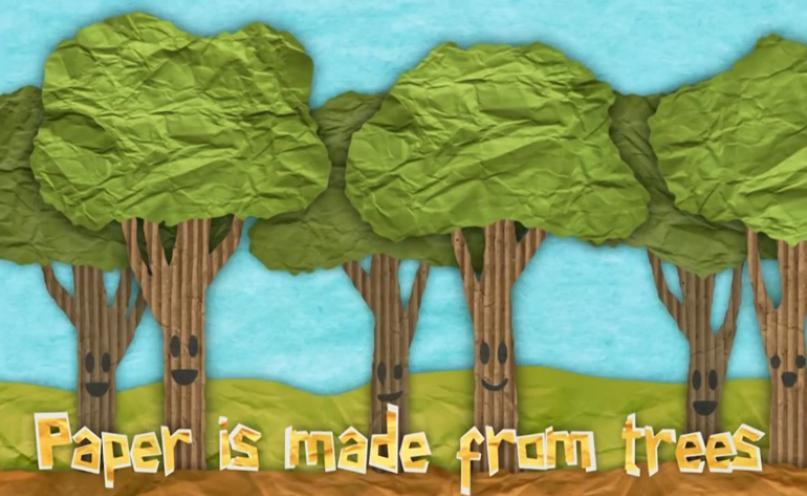 Paper is made from trees