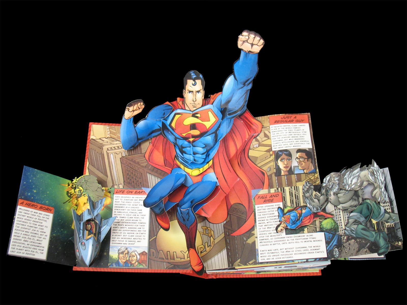 superbohaterowie ksiązka pop-up