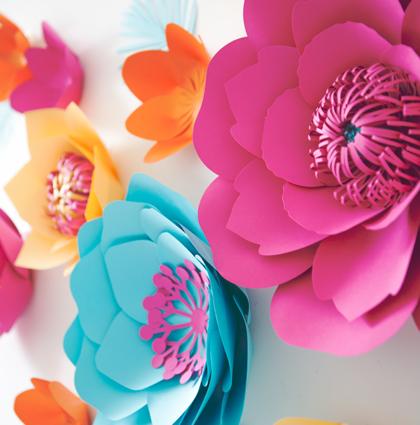 Kwiaty z papieru na Walentynki