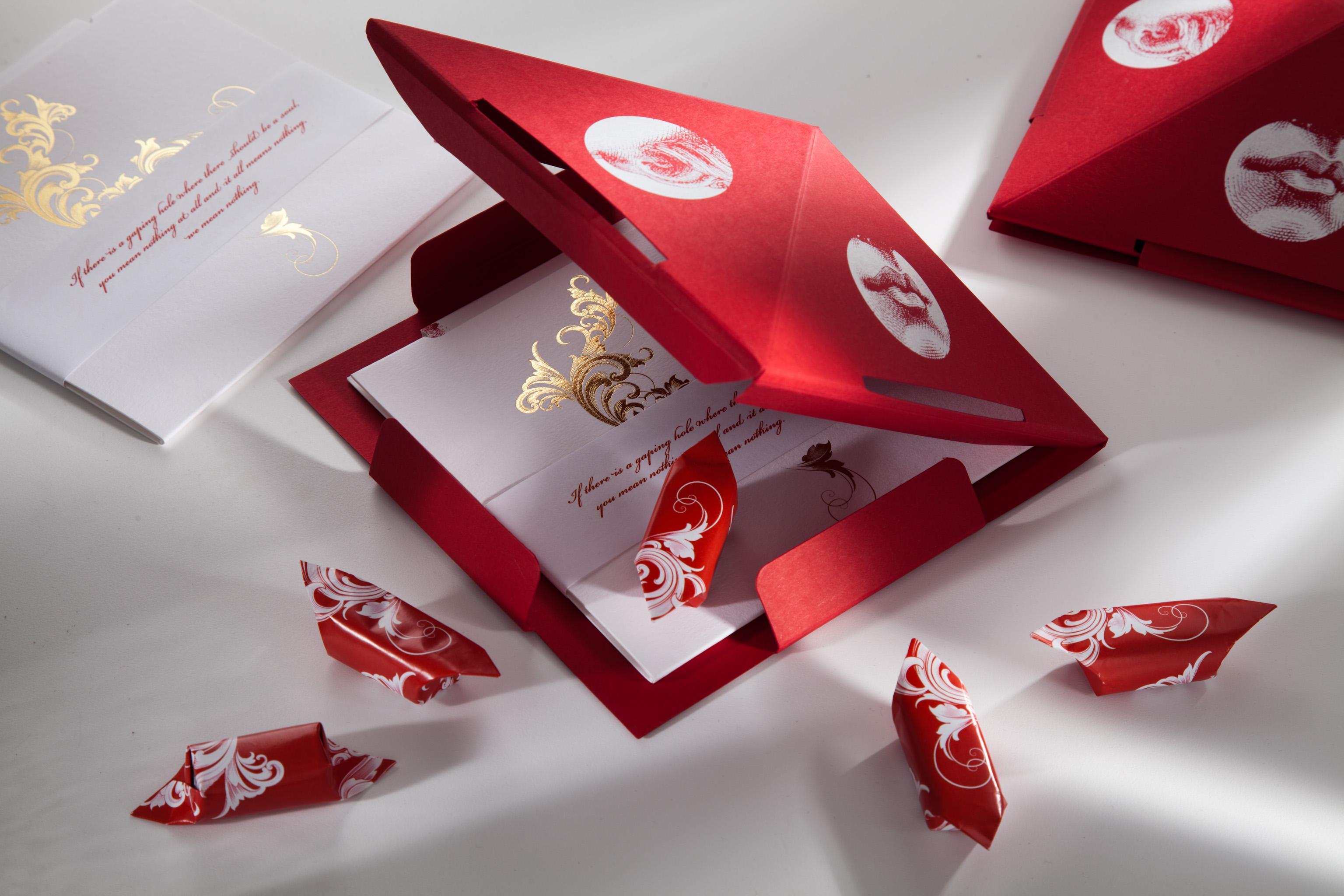opakowanie CD TOFU Studio z cukierkami