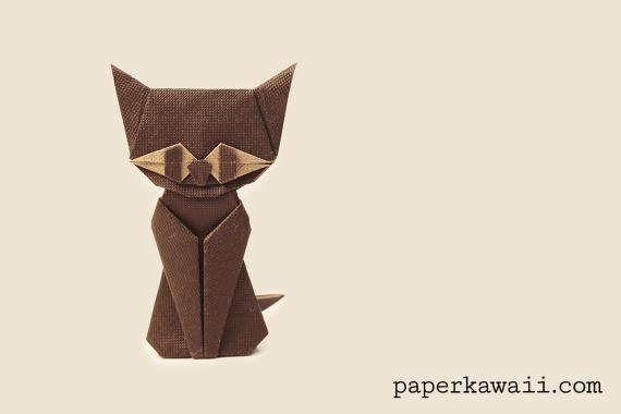 modular origami cat