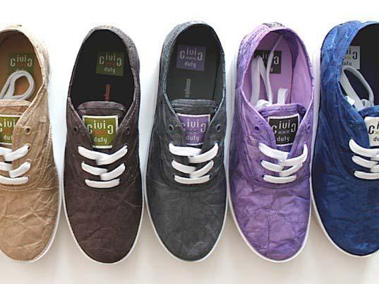 buty z papieru tyvek