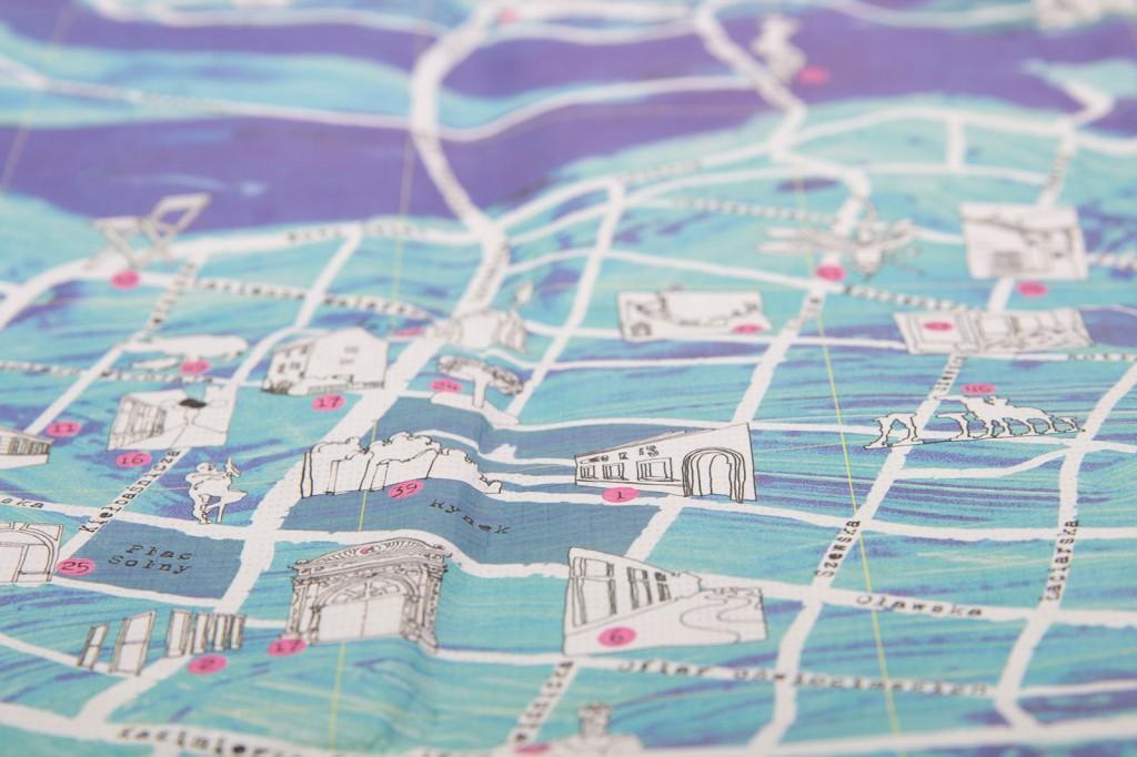 Artystyczna mapa Wrocławia z Tyveku