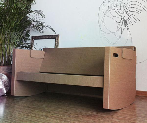 kanapa z tektury