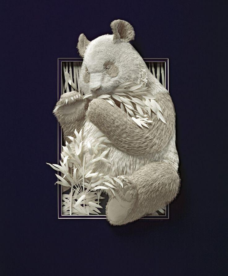 Calvin Nicholls zwierzęta z papieru
