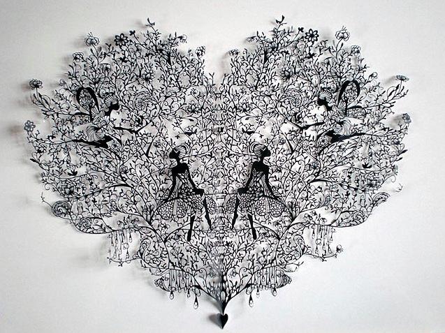 Miniatury wycinane z papieru by Hina Aoyama