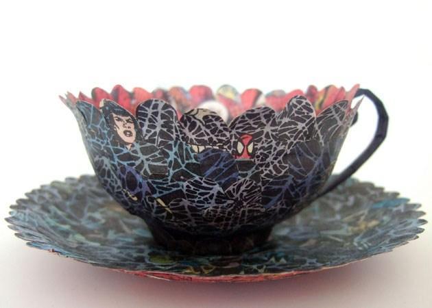 Zestaw do herbaty ze Spidermanem