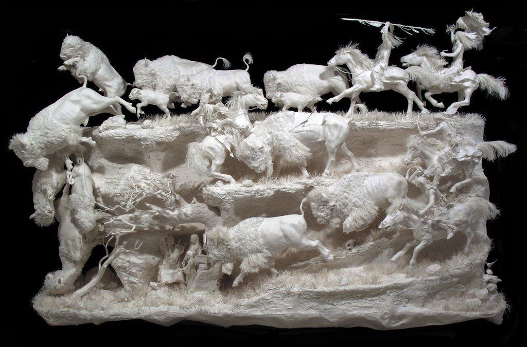 Rzeźby z papieru by Eckman
