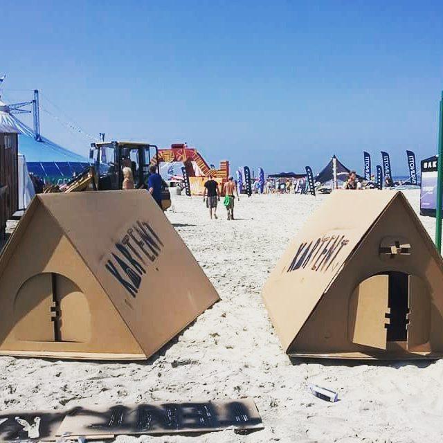 KarTent - namiot z kartonu