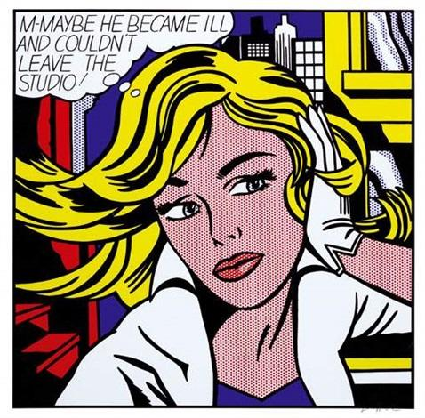 roy-lichtenstein-m-maybe-he-became-ill-and-couldnt-leave-the-studio