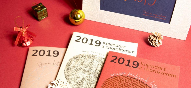 Zestaw kalendarzy na 2019 rok od Papierowego Dizajnu